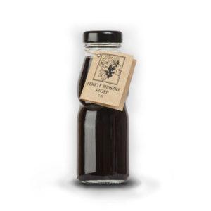 Fekete ribizli szörp üvegben – 2dl