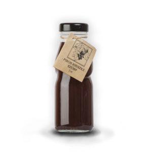 Piros ribizli szörp üvegben – 2dl